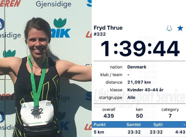 Halvmaraton debut - 1:39:44