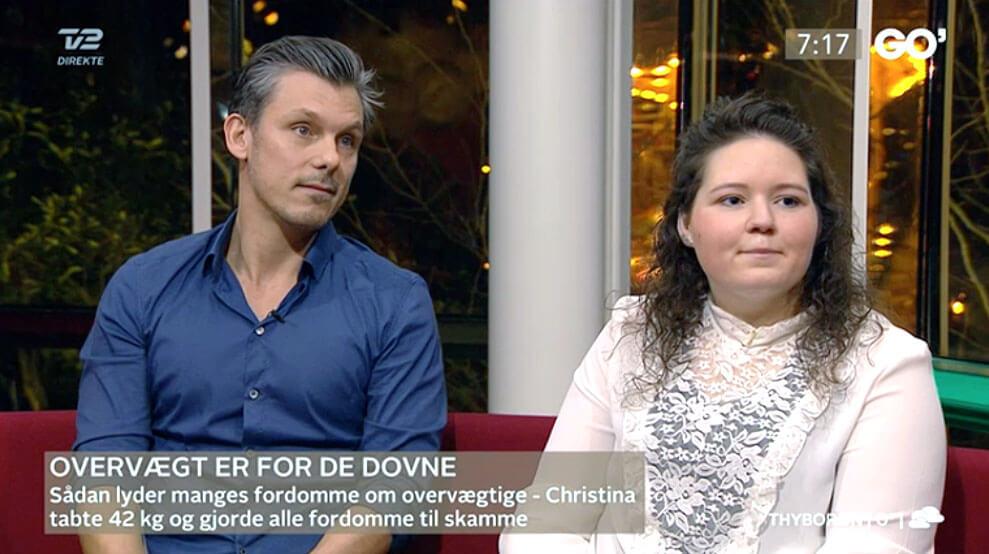 Christina og Per i Go' Morgen Danmark